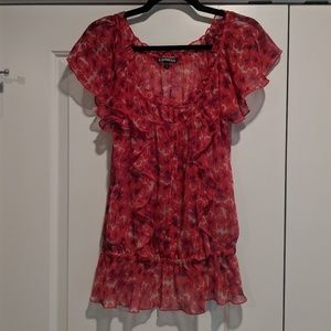 Express Sheer Flower Top